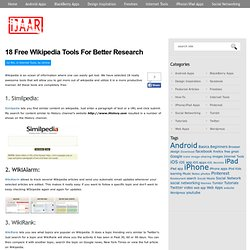 18 Free Wikipedia Tools For Better Research