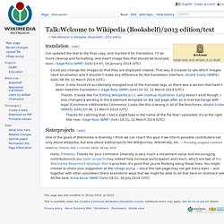 Talk:Welcome to Wikipedia (Bookshelf)/2013 edition/draft - Outreach Wiki