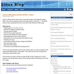 Access Wikipedia Content Offline - Kiwix
