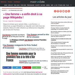 La page Wikipédia d'« une femme » dénonce le sexisme dans les médias