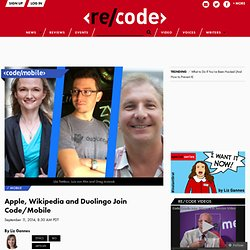 Apple, Wikipedia and Duolingo Join Code/Mobile