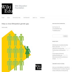 Help us close Wikipedia's gender gap