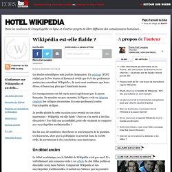 Wikipédia est-elle fiable?