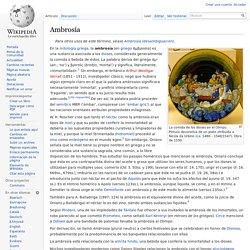 Ambrosía - Wikipedia, la enciclopedia libre