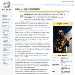 Jorge González (cantante)