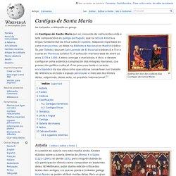 Cantigas de Santa María - Wikipedia, a enciclopedia libre