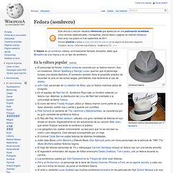 Fedora (sombrero)