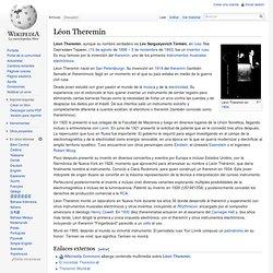 Léon Theremin