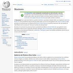 Maximato (Lang:ES)
