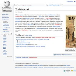 Thaïs (opera)