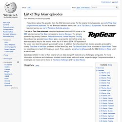 List of Top Gear episodes