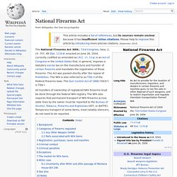 National Firearms Act