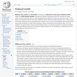 National wealth - Wikipedia, the free encyclopedia