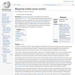 Rhapsody (online music service)