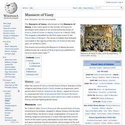 Massacre of Vassy