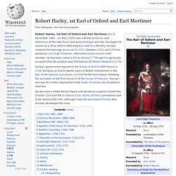 Robert Harley, 1st Earl of Oxford and Earl Mortimer
