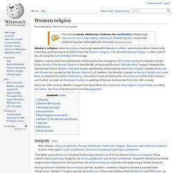comparing eastern and western religions Comparison of religions eastern (indian-hinduism, buddhism, and jainism) and western (judaism, christianity, islam) religions pravin k shah jain study center of north carolina.
