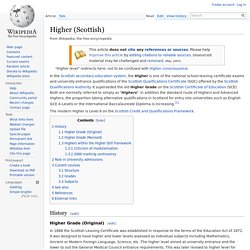 Higher (Scottish)