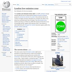London low emission zone
