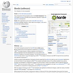 Horde (software)