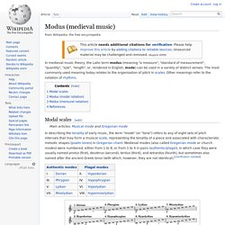 Modus (medieval music)