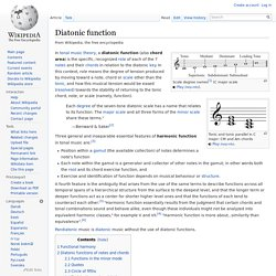 Diatonic function