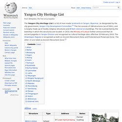 Yangon City Heritage List