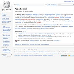 Agpaitic rock
