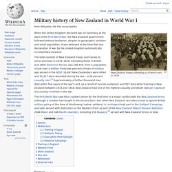 Military history of New Zealand in World War I