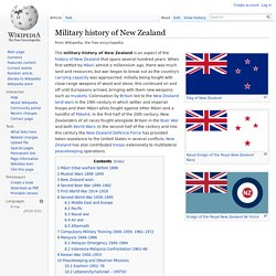Military history of New Zealand