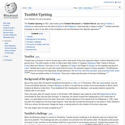 Tamblot Uprising