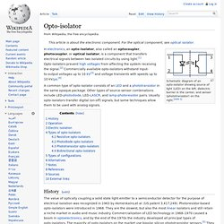 Opto-isolator