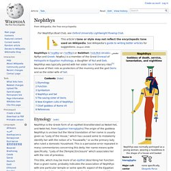 Nephthys - Wikipedia, Sister to Isis