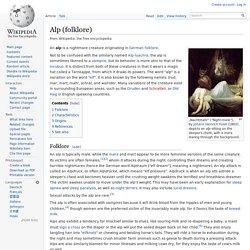 Alp (folklore)