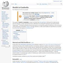 Health in Cambodia