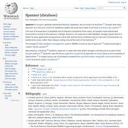 Spanner (database)