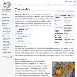 Thomsons Lake