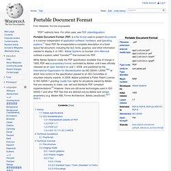 PDF: Portable Document Format (files)