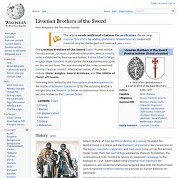 Livonian Brothers of the Sword