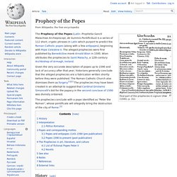 Prophecy of the Popes