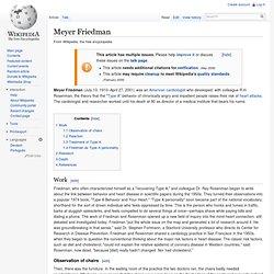 Meyer Friedman