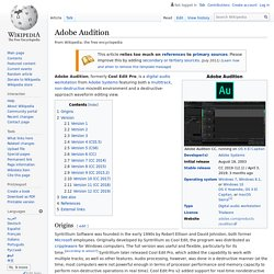 Adobe Audition - Wikipedia, the free encyclopedia