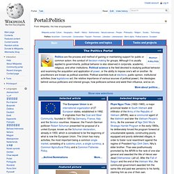 Portal:Politics