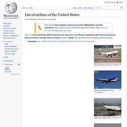 List of airlines of the United States