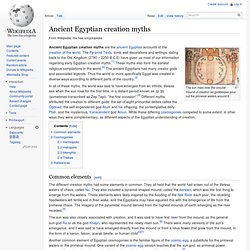 Ancient Egyptian creation myths