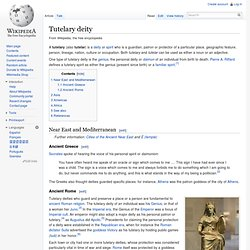 Tutelary deity