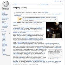 Sampling (music)