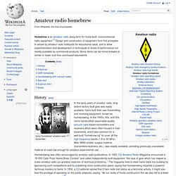 Amateur radio homebrew