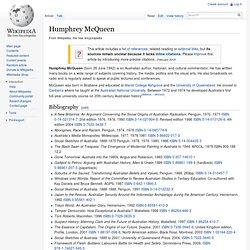Humphrey McQueen