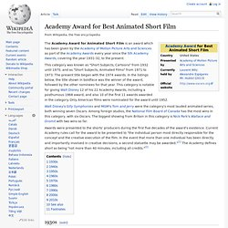 Academy Award for Best Animated Short Film